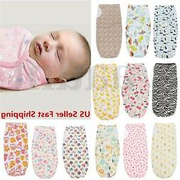 Brand 0-3 Months new Baby Infant 100% Cotton Swaddle Wrap Sw