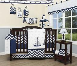 Brand New GEENNY Baby Nautical Explorer 13 Piece Nursery Cri