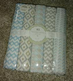 Brand New!Baby Receiving Blankets Boy- 5 pack- Petite l'amou