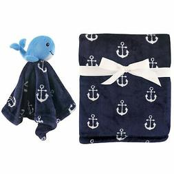 Hudson Baby Unisex Baby Plush Blanket with Security Blanket,