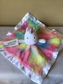 Brand New Baby Starters Rainbow Unicorn Plush Satin Lovey Se