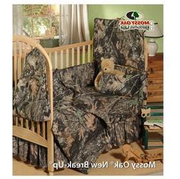 Mossy Oak New Break Up Camo - 6 Piece Crib Set includes - Sa