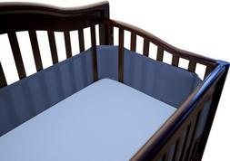 Breathable Baby Crib Bumper and Waterproof Mattress Pad, Tru