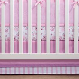 Breathable Baby Pink Mist Sheet Saver Crib Multi-Colored