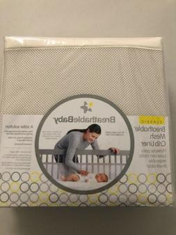 BreathableBaby - Breathable Crib Liner, Fits All Cribs, Ecru