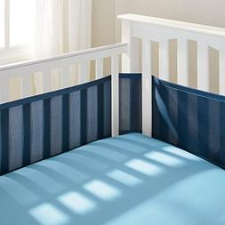 BreathableBaby Breathable Mesh Crib Liner, True Navy