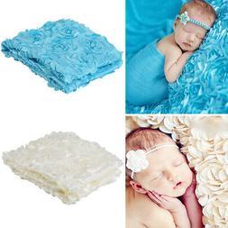 Breathable Newborn Pink Bedding Blanket Baby Girl Boy Photog