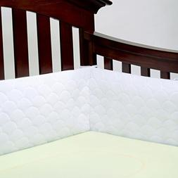 Lifenest Breathable & Padded Mesh Crib Liner - White