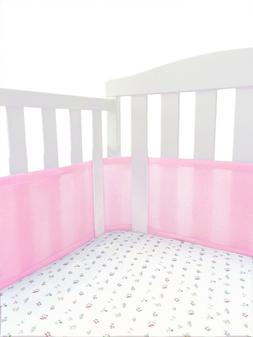 Pink Dot NEW BreathableBaby Deluxe Girls/' Mesh Crib Liner