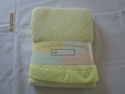 Bright Future/Baby Morgan Acrylic YELLOW Crib Blanket THERMA