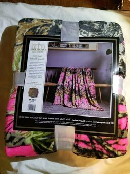 BRIGHT HI VIS PINK CAMO Camouflage Woods Soft Fleece Cashmer