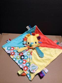 TAGGIES Bright Starts Lion Security Blanket Unisex Lovey Bab