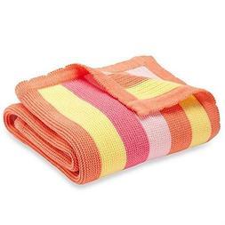 Elegant Baby Bright Stripes Blanket in Raspberry 129395 $44