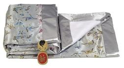 I Frogee Brocade Baby Blankets in Silver Butterfly Print