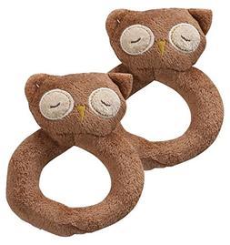 Angel Dear Brown Owl Ring Rattles