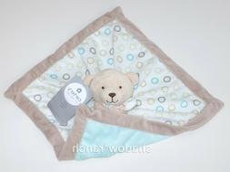 Carter's Brown/White Bear Security Blanket with Plush
