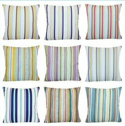 Premium Striped Velvet Throw PILLOW COVER Sofa Couch Bed Cus