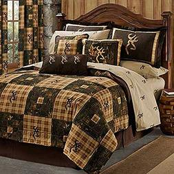 Browning Country Buckmark Queen Comforter Set Camouflage Pla
