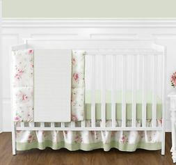 Bumperless Designer Discount Baby Girls Pink Green Floral 4p