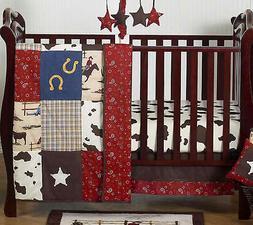 Sweet Jojo Designs Bumperless Western Cowboy Themed Baby Boy