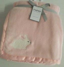 Carter's Baby Girls' Bunny Blanket,Pink,One Size
