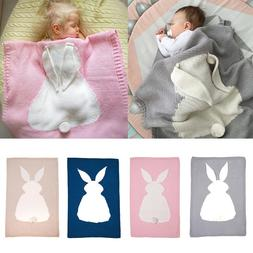 Bunny Kids Baby Napping Blanket Rabbit Bedding Towel Cover T