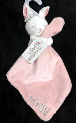 Baby Starters Bunny Rabbit Pink Baby Love Rattle Glitter Sec