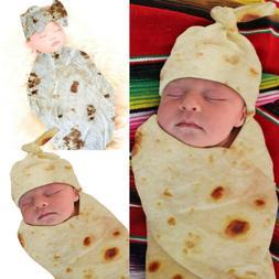 Burrito Baby Blanket Tortilla Swaddle Blanket Sleeping Swadd