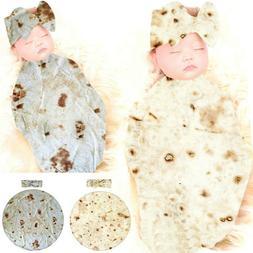 Baby Burrito Blanket Flour Tortilla Swaddle Blanket Sleeping