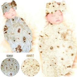 Burrito Blanket Baby Flour Tortilla Swaddle Blanket Sleeping
