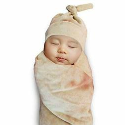 burrito wrap novelty blanket with hat