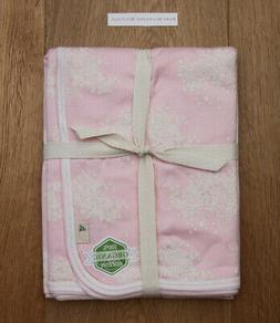 Burt's Bees Baby Girl Stroller Blanket ~ Pink & White ~ Orga