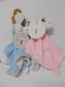 BURT'S BEES Hold Me GRAY SECURITY BLANKET LOVEY Organic Cotton Baby