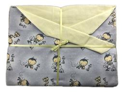 """Busy Bee Handmade Double Flannel Baby/Toddler Blanket 42"""" Sq"""