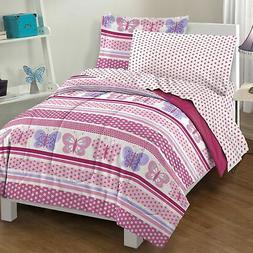 Dream Factory Butterfly Dots Comforter Set