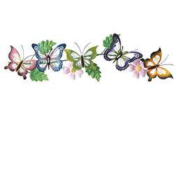 Butterfly Floral 3d Metal Wall Art