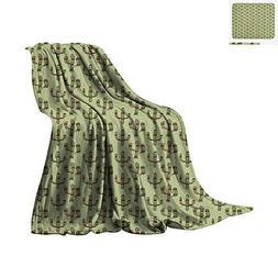 Cactus Warm Microfiber All Season Blanket Mexican Inspired I