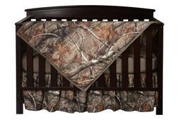 Realtree Camo Baby Toddler Crib Set, Bedding Sheet Skirt Bla