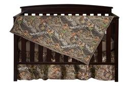 Mossy Oak Camo Crib Set Bedding, Sheet Skirt Blanket Camoufl