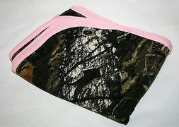 Mossy Oak Camo Pink Baby Blanket, Camouflage Infant Girl