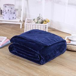 Candy Color Flannel Bed Blanket Sheet Extra Soft Warm Plush