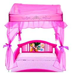 Canopy Toddler Bed Disny Princess Little Girls for Kids Side