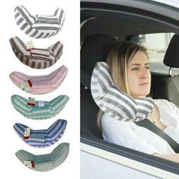 Car Seat Travel Pillow Kids Seatbelt Pads Headrest Neck Supp