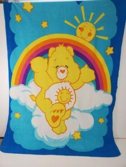 Care Bear Fleece Blanket Vintage Baby Child Infant Shine Bri