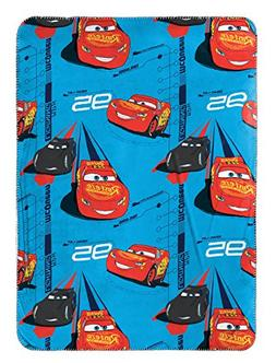 "Disney/Pixar Cars 3 Movie Speed Trip Light Blue 40"" x 50"" Tr"