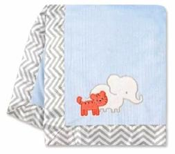 Carter Just One You Elephant & Tiger Valboa Blue Baby Blanke
