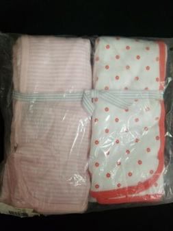 Carter's 2-Pack Stripe and Floral Swaddle Blankets