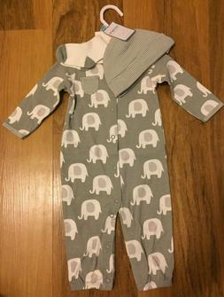 Carter's 3 Piece Set - Baby Boy or Girl 6 Months Elephant Ou