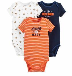 Carter's Baby Boy Bodysuit Lot of 3 Sports Rookie Daddy's Ho