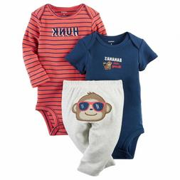 Carter's Baby Boy Bodysuit Pants Monkey Hunk Bananas Mommy G